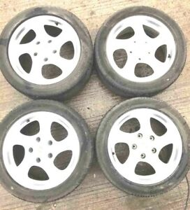 Set Of 4 1999 Porsche Boxster Wheels lugnuts Used Oe repainted White See Note