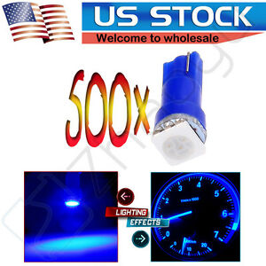 500x Blue T5 70 74 73 1 5050smd Instrument Gauge Dash Indicator Led Light Bulbs