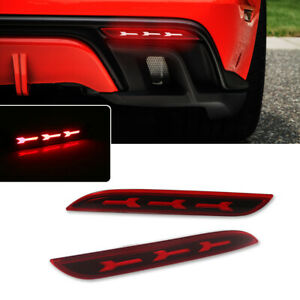 For 15 17 Ford Mustang Sequential Reflector Led Brake Light Tail Lamp W signal