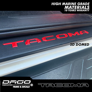 2016 2020 Tacoma Door Sill Protector Raised 3d Insert Letters Sticker Set Of 4