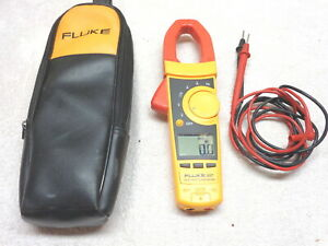 Fluke 337 True Rms Clamp Meter ac Dc Current Amp leads Storage Pouch