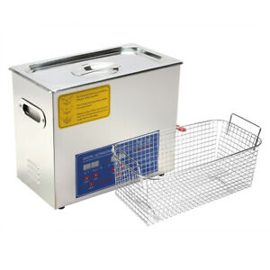 Hfs r Commercial Grade Digital Ultrasonic Cleaner Stainless Steel 6l Capacity