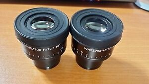 Olympus Whsz 20x h 1pair For Sz Szx Series Stereomicroscope