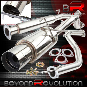 For 92 00 Honda Civic Eg Ek Dx Lx Ex Racing Flow Catback Muffler Exhaust System