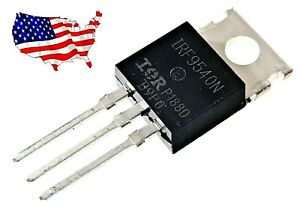 Irf9540n 5 Pcs 23a 100v To 220 Ir P channel Power Mosfet From Us