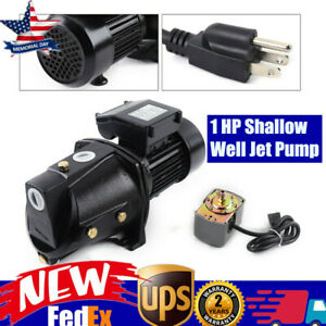 1 Hp Shallow Well Jet Pump W Pressure Switch 110v Water Jet Pump 4000l h