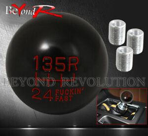 For Jeep Twist On 6speed Race Solid Engraved Round Ball Type Shift Knob Set Red