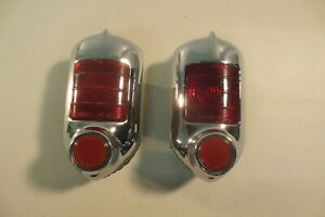 Original 1951 1952 Chevy Chevrolet Tail Lights Taillights Assembly Guide R1 51