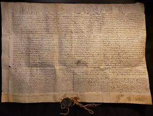 1697 Pope Clement Xi Signed As Cardinal Albani Papal Bull Innocent Xii Lead Seal