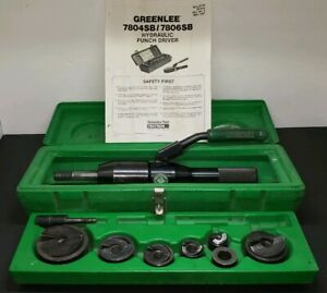 Greenlee 7806sb Quick Draw Hydraulic K o Knockout Punch Set 1 2 To 2 Ko Exlnt