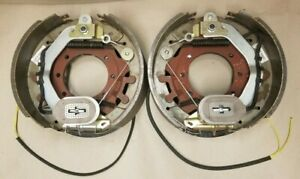 Pair 12 14x4 10k Hd Electric Backing Plate 10000 Trailer Brake For Dexter