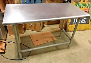 Stainless Steel Prep Table Commercial Heavy Duty Table 48 W