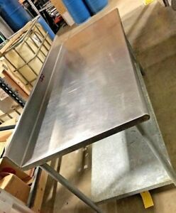 Eagle Stainless Steel Prep Table Commercial Restaurant Table 72 w