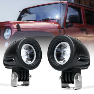 2x 10w Cree Led Spot Light Mini Round Work Lamp For Jeep Offroad Trucks Atv Utv