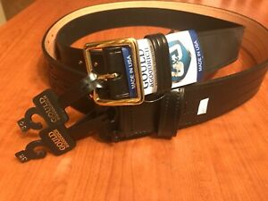 Gould Goodrich Sam Browne Leather Duty Belt 2 1 4 Wide Sz 38 Garrison Sz 36