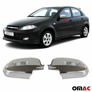 For Chevrolet Lacetti 2004 2013 Chrome Led Side Mirror Cover Cap Protector 2 Pcs
