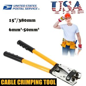 6 50 Mm Terminal Crimper Wire Lug Connectors Cable Pliers Crimping Tool Pvc Usa