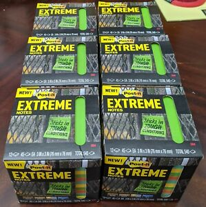 Post it Extreme Weather Sticky Notes Assorted Colors 45 Sheets 12 Pads 6x Lot
