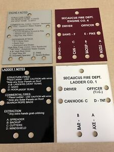 Fire Company Accountability Tags 20 Boards 7 With Rings Clips And Velcro
