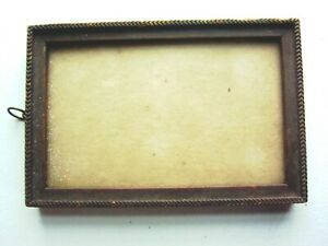 3 Small Vintage Picture Frames And 1 Small Wood Frame With Doors 4 Total