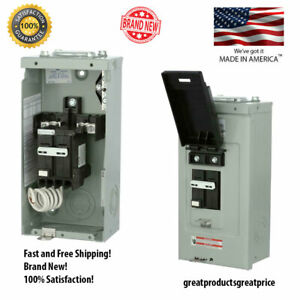 Breaker Spa Tub Panel 50 Amp 2 circuit Spa Panel Self Test Gfci Electrical Box