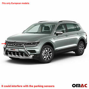 Bull Bar Front Bumper Protector Guard S steel Fits Vw Tiguan Limited 2018 2020