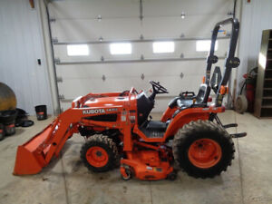 Kubota B7500 Tractor 4wd Hydro La302 Front Loader 54in Belly Mower 377 Hrs