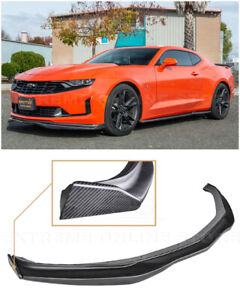 Eos For 19 up Camaro Rs Ss T6 Style Front Splitter Lip W Carbon Side Splitter
