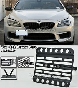 For 13 17 Bmw 6 series F06 Gran Coupe Front Tow Hook License Plate Bracket Mount