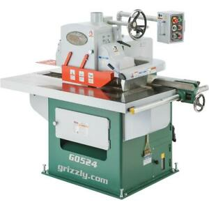 Grizzly G0524 15 Hp 3 phase Straight Line Rip Saw
