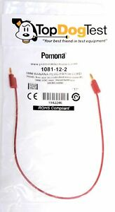Pomona 1081 12 2 Test Lead Single Red 12in 3000vdc 10 Pieces