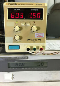 Protek 3006b Variable Dc Power Supply 0 60v 0 1 5a 90w Load Tested