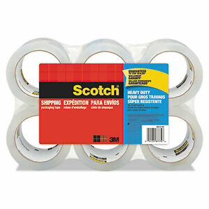 3850 Heavy duty Packaging Tape 3 Core 1 88 X 54 6 Yds Clear 6 pack 3850 6