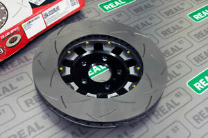 Dba 5000 Series Slotted 2 Piece Front Brake Rotor Black Hat For 09 11 Gtr R35