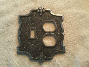 Ajax Amerock Carriage House Outlet Switch Combo Wall Plate Cover Pewter Silver