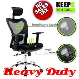 Heavy Duty High Back Mesh Office Chair Ergonomic Executive Big And Tall Gaming