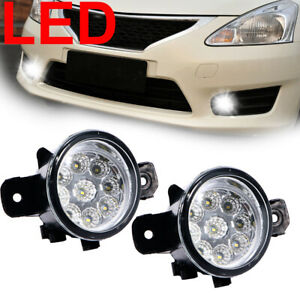 2x 9 led 11 Socket Fog Lights For 2004 2017 Nissan Altima Maxima Pathfinder Dm