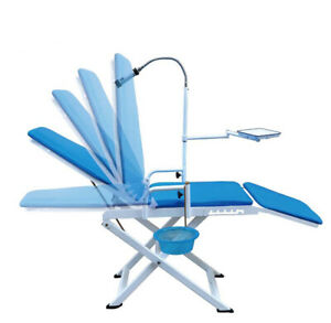 Pro Folding Dental Chair Unit Water Supply System Led Cold Light Cuspidor Tray