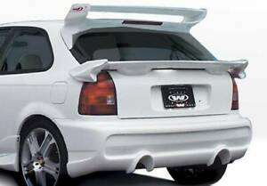Tuner Type Ii Rear Bumper Cover For 1996 2000 Honda Civic Hb 890508