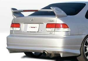W Type Rear Lip For 1999 2000 Honda Civic 2dr 4dr 890375