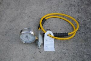 Enerpac Gp 10s Hydraulic Gauge Ga2 Hc7206q 1 4 Hose Port For 142 Pumps