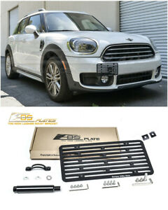Eos For 17 up Mini F60 Countryman Full Size Front Tow Hook License Plate Bracket