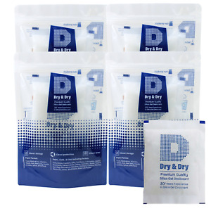Dry Dry 100 Gram 25 Packets Premium Pure Safe Silica Gel Desiccant Packeks