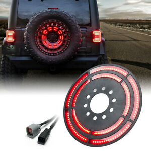 14 3rd Dual Spare Tire Led Wheel Brake Rear Light For 07 18 Jeep Wrangler Jk Jl