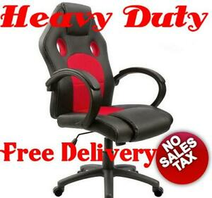 350lb High Back Big And Tall Heavy Duty Gaming Leather Ergonomic Wide Desk Chair