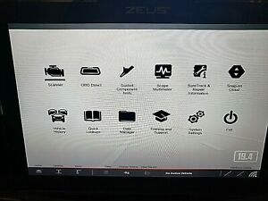 Like New Snap On Zeus Diagnostic Scan Tool And Lab Scope Software Up To Date