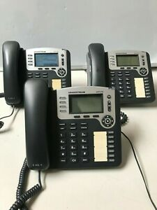 Lot Of 3 Grandstream Gxp2100 4 line Voip Enterprise Phones