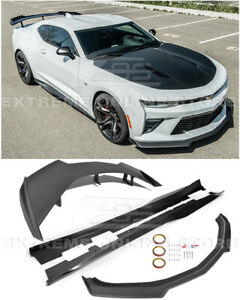 For 16 up Camaro All Refresh Zl1 1le Style Front Lip Side Skirts Rear Spoiler