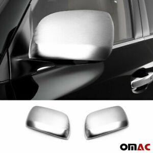 Fits Toyota Land Cruiser 2008 2020 Brushed Side Mirror Cover Cap Set W O Signal