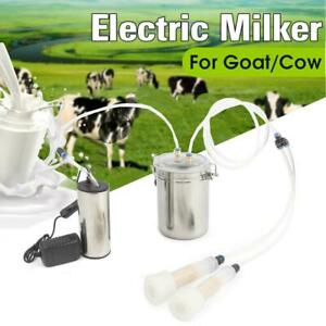 2l Portable Electric Milking Machine Vacuum Pump For Farm Cow Sheep Goat Milker